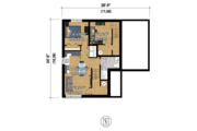 Contemporary Style House Plan - 4 Beds 2 Baths 2481 Sq/Ft Plan #25-4401 Floor Plan - Lower Floor