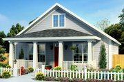 Craftsman Style House Plan - 3 Beds 2 Baths 1277 Sq/Ft Plan #513-2094 Exterior - Front Elevation