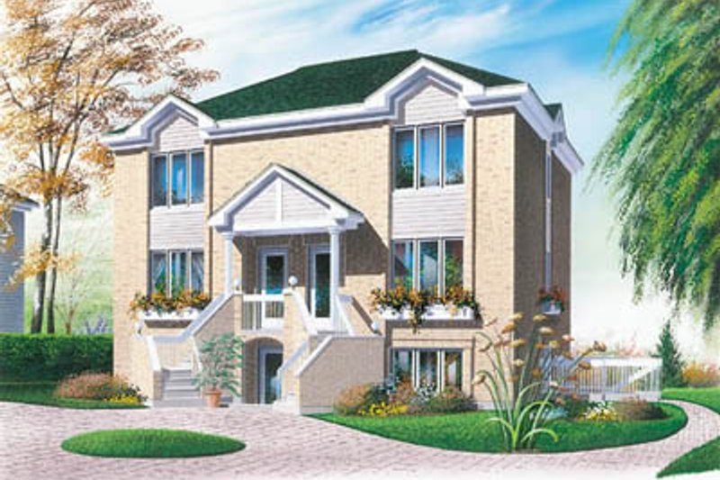 European Exterior - Front Elevation Plan #23-2076