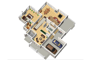 Traditional Style House Plan - 3 Beds 2 Baths 4867 Sq/Ft Plan #25-4633 Floor Plan - Main Floor Plan