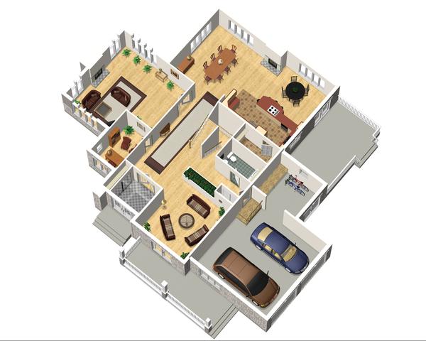 Traditional Floor Plan - Main Floor Plan Plan #25-4633