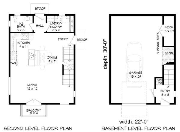 Contemporary Floor Plan - Main Floor Plan Plan #932-292