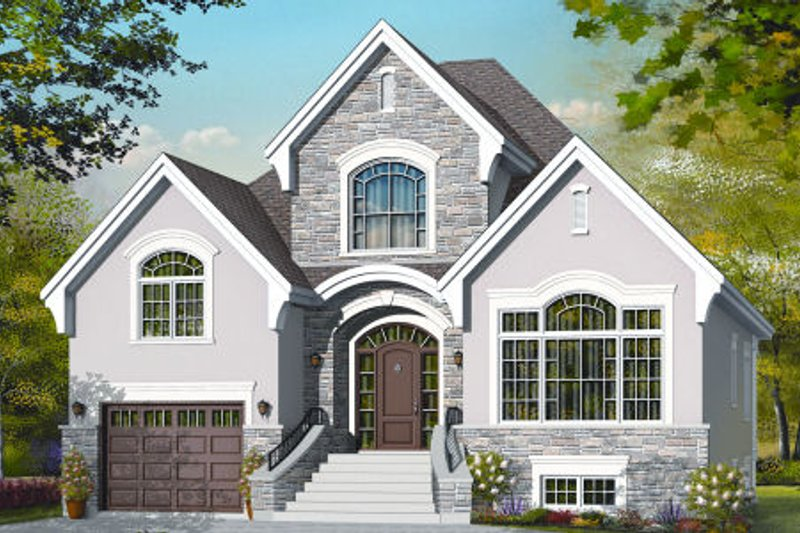 Traditional Exterior - Front Elevation Plan #23-2245 - Houseplans.com