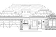Craftsman Style House Plan - 3 Beds 2 Baths 1452 Sq/Ft Plan #932-171 Exterior - Front Elevation
