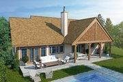 Ranch Style House Plan - 3 Beds 2 Baths 1416 Sq/Ft Plan #942-54 Exterior - Rear Elevation