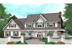 Farmhouse with wrap around porch 2,600 sft