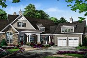 Ranch Style House Plan - 4 Beds 4 Baths 3045 Sq/Ft Plan #929-1007 Exterior - Front Elevation
