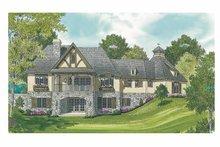Architectural House Design - European Exterior - Rear Elevation Plan #453-607