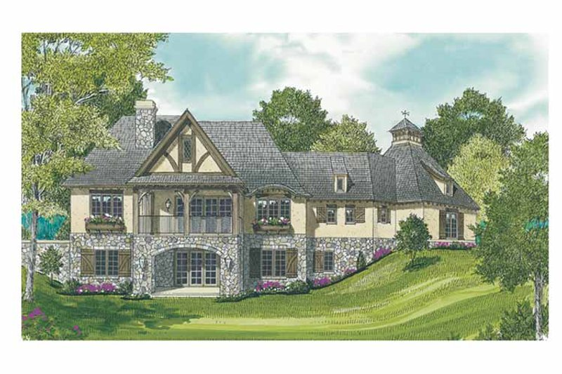 European Exterior - Rear Elevation Plan #453-607 - Houseplans.com
