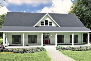 Architectural House Design - Traditional Exterior - Front Elevation Plan #44-236