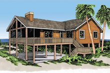 Dream House Plan - Cabin Exterior - Front Elevation Plan #959-4