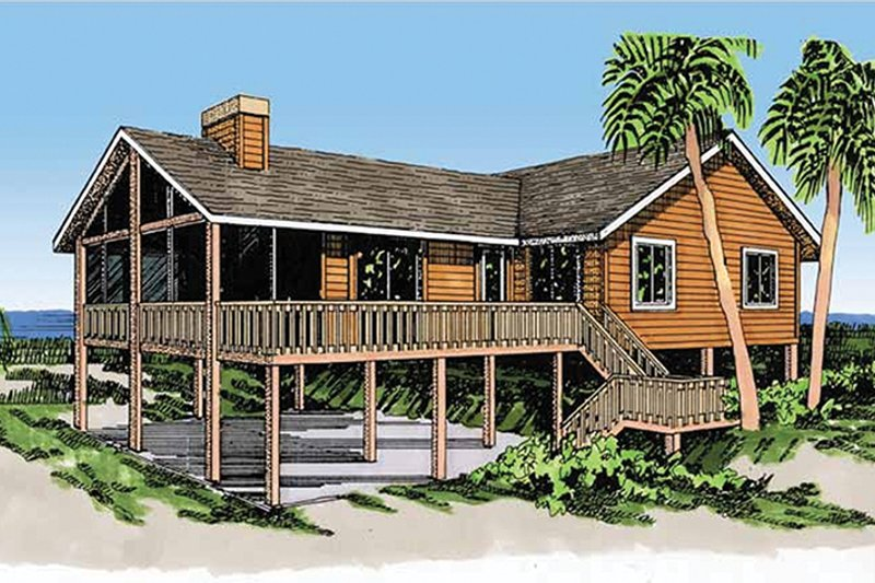Cabin Exterior - Front Elevation Plan #959-4 - Houseplans.com