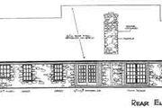 Farmhouse Style House Plan - 4 Beds 2 Baths 2078 Sq/Ft Plan #310-193 Exterior - Rear Elevation