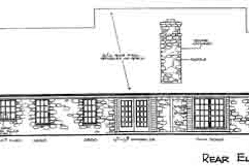 Farmhouse Exterior - Rear Elevation Plan #310-193 - Houseplans.com