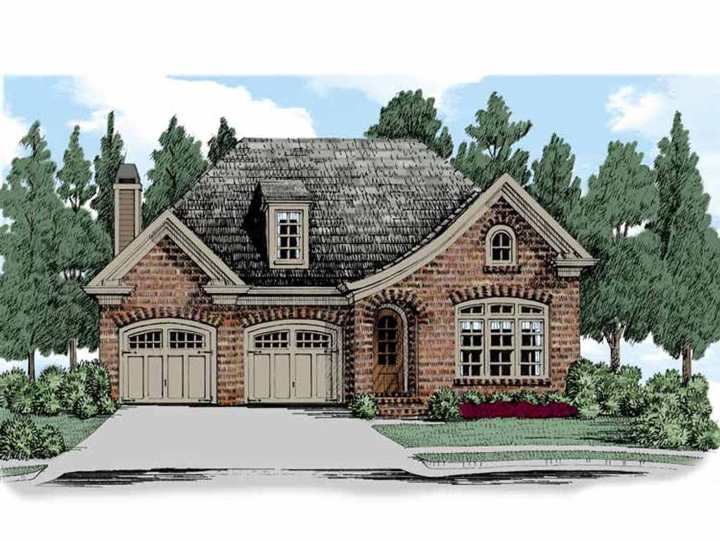 European style house plan 2 beds 2 baths 1801 sq ft plan for Homplans
