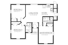 Ranch Floor Plan - Main Floor Plan Plan #1061-18