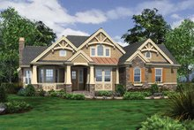 Architectural House Design - Traditional Exterior - Front Elevation Plan #132-543