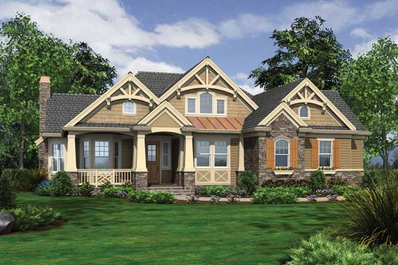 Traditional Exterior - Front Elevation Plan #132-543 - Houseplans.com
