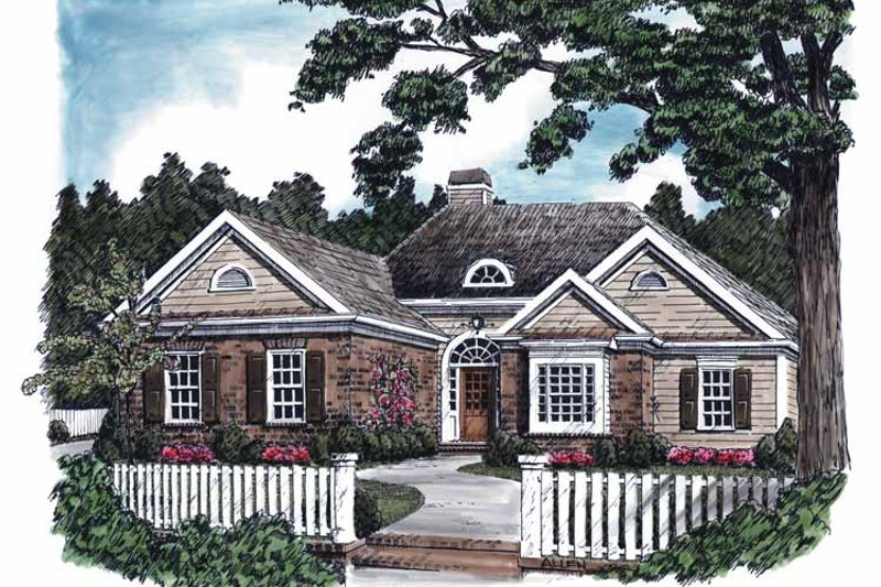 Country Exterior - Front Elevation Plan #927-581