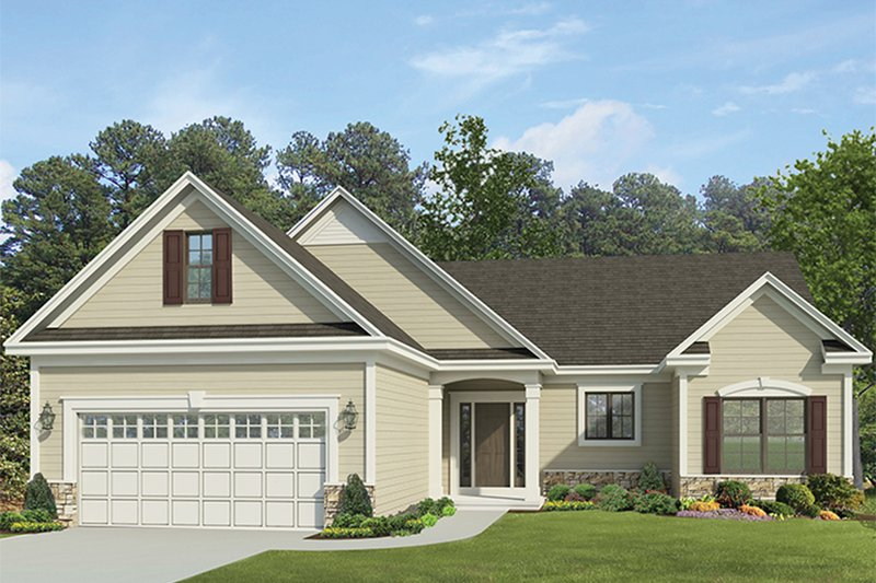 Ranch Exterior - Front Elevation Plan #1010-147 - Houseplans.com