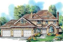 House Blueprint - Traditional Exterior - Front Elevation Plan #18-332