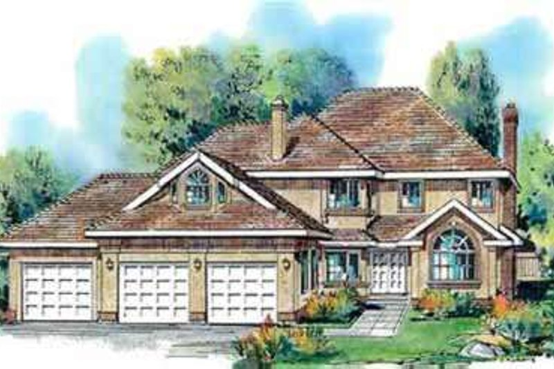 Traditional Exterior - Front Elevation Plan #18-332