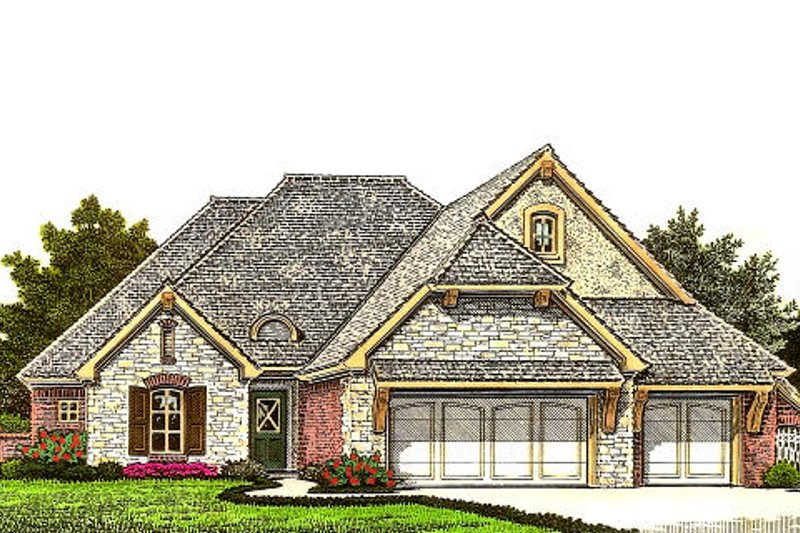 Dream House Plan - European Exterior - Front Elevation Plan #310-977