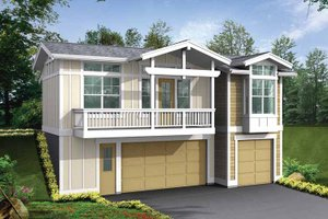 Architectural House Design - Craftsman Exterior - Front Elevation Plan #132-527