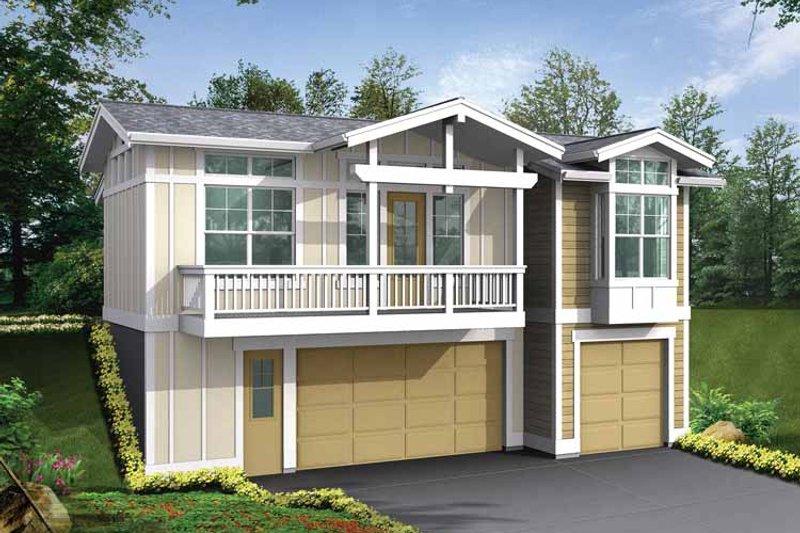 Dream House Plan - Craftsman Exterior - Front Elevation Plan #132-527