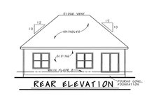 House Design - Traditional Exterior - Rear Elevation Plan #20-1714