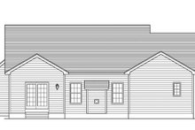 Colonial Exterior - Rear Elevation Plan #1010-69