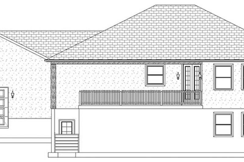 Ranch Exterior - Rear Elevation Plan #1060-21 - Houseplans.com
