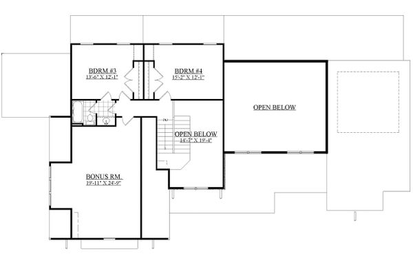 Craftsman Floor Plan - Upper Floor Plan Plan #1071-23