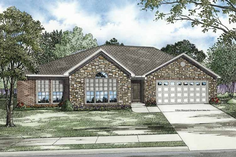 Ranch Exterior - Front Elevation Plan #17-3204