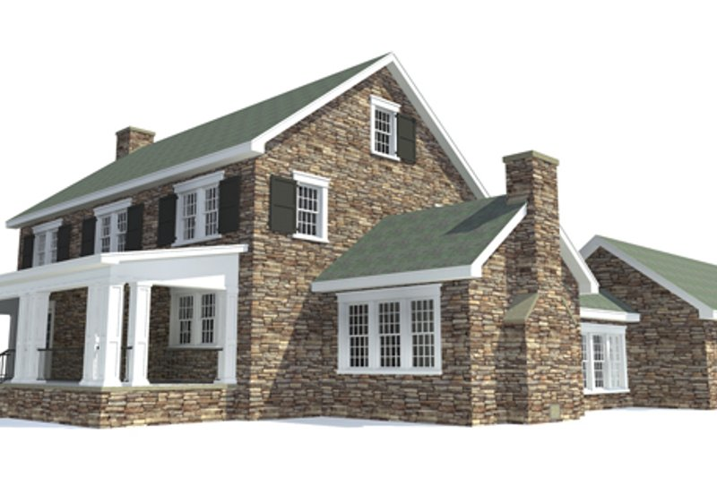 Colonial Exterior - Rear Elevation Plan #64-314 - Houseplans.com