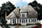 European Style House Plan - 4 Beds 3.5 Baths 2999 Sq/Ft Plan #429-22 Exterior - Rear Elevation