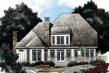 Dream House Plan - European Exterior - Rear Elevation Plan #429-22