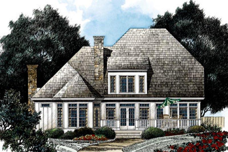 European Exterior - Rear Elevation Plan #429-22 - Houseplans.com