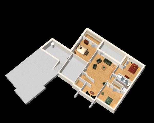 Traditional Floor Plan - Lower Floor Plan #25-4736
