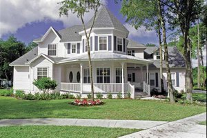 Victorian Exterior - Front Elevation Plan #417-545