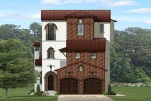 Mediterranean Exterior - Front Elevation Plan #1058-155