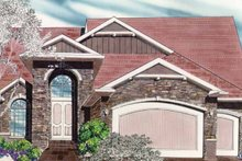 Craftsman Exterior - Front Elevation Plan #509-329