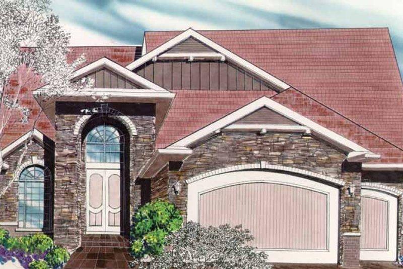 Craftsman Exterior - Front Elevation Plan #509-329 - Houseplans.com