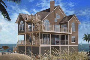 House Design - Traditional Exterior - Front Elevation Plan #23-869
