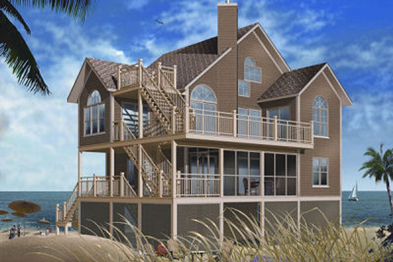 Traditional Exterior - Front Elevation Plan #23-869 - Houseplans.com