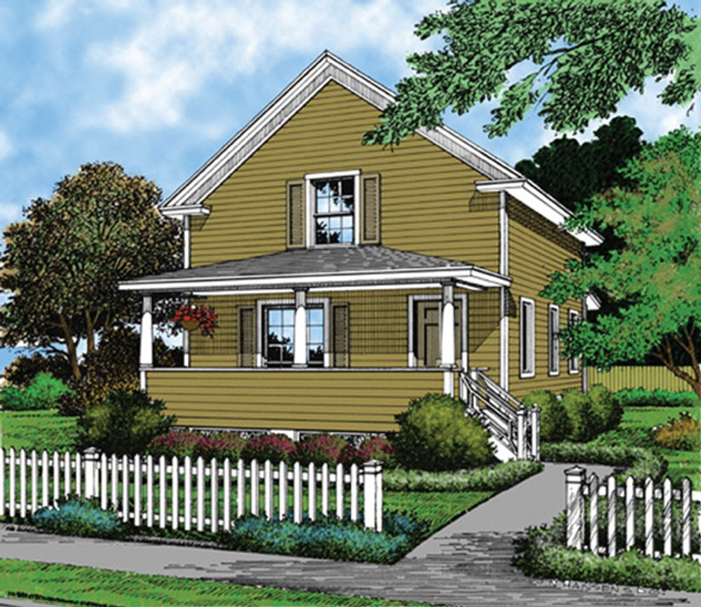 Country Exterior Front Elevation Plan 417 543