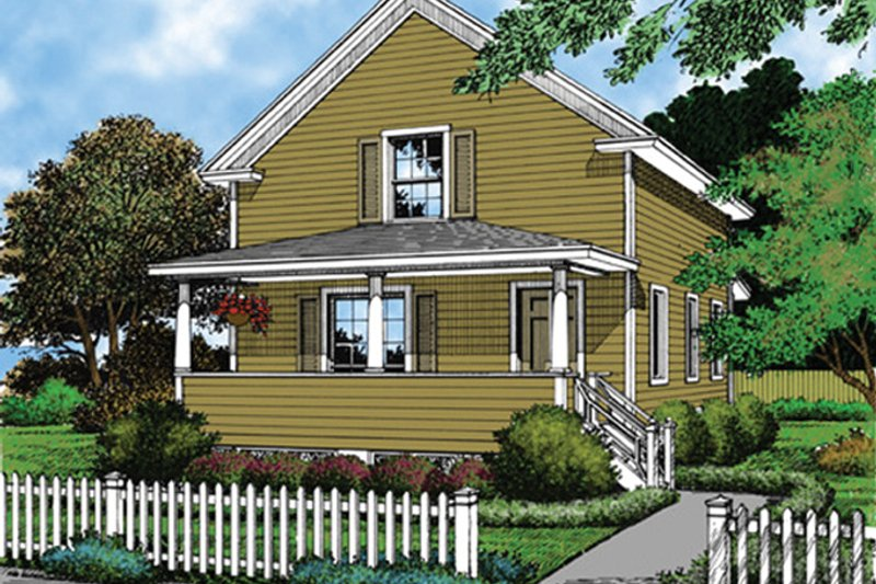 Country Exterior - Front Elevation Plan #417-543 - Houseplans.com