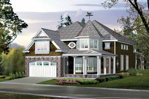 Architectural House Design - Craftsman Exterior - Front Elevation Plan #132-430