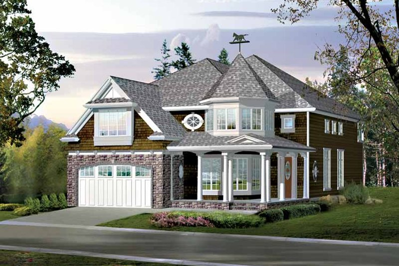 Dream House Plan - Craftsman Exterior - Front Elevation Plan #132-430