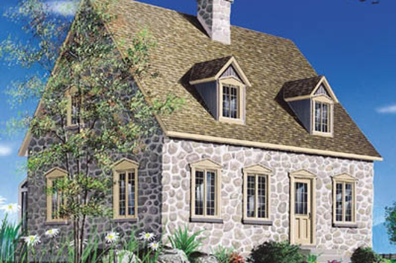 Dream House Plan - Colonial Exterior - Front Elevation Plan #23-2090